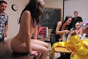 spanking facing camera