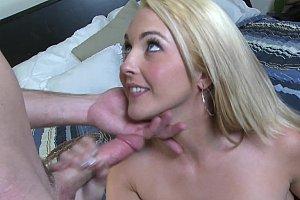 sucking on a dildo
